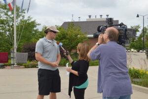 Man being interviewed