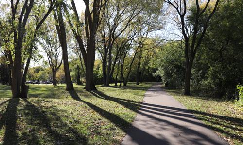 Hanrahan Park path