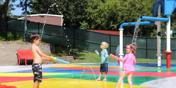 Splash Park Kids playing