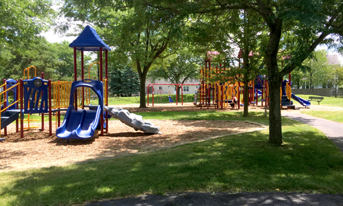 View of playground equipment
