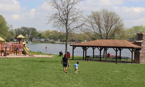 wide shot of Lewandowski Park